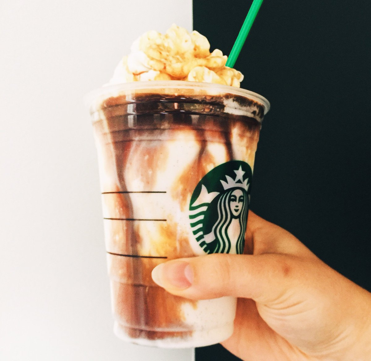 Running hot and cold. In a good way. #AffogatoStyle = 1 shot of espresso poured on top of any Frappuccino.