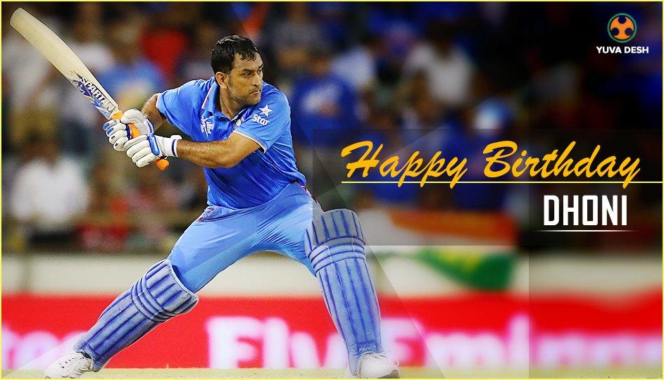 yuva desh on twitter wishing a very happy birthday to captain cool