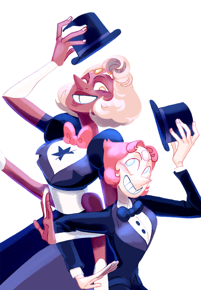 """I just LOVE these two Classy Tuxedo Moms! 🎩 #sufanart #stevenuniverse #supearl #susardonyx #SummerofSteven"""