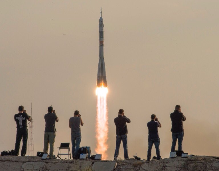 Picture-perfect launch of #Soyuz 47S! Kate