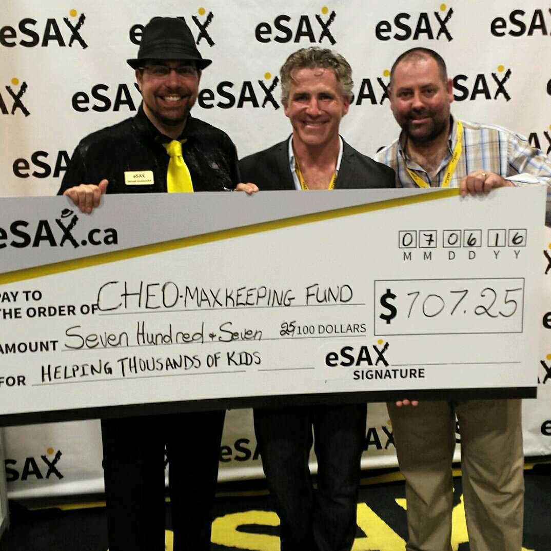 An great night at Ottawa's premiere networking event #eSAX. Raising $700+ for the Max Keeping Fund at CHEO #RogersTV https://t.co/OKjNDNXXhE