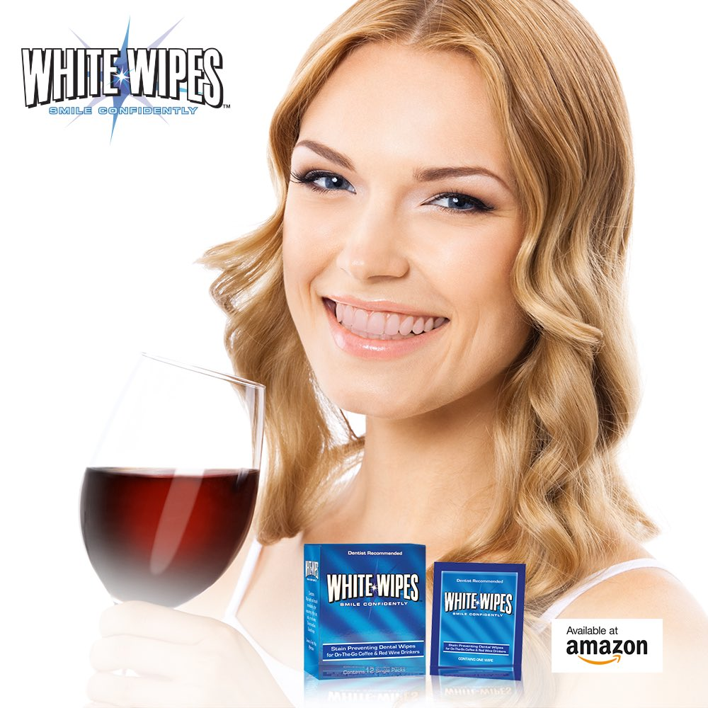 Image result for White Wipes - Teeth Whitening Wipes for Coffee & Red Wine