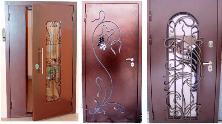 изготовление двухстворчатых входных дверей