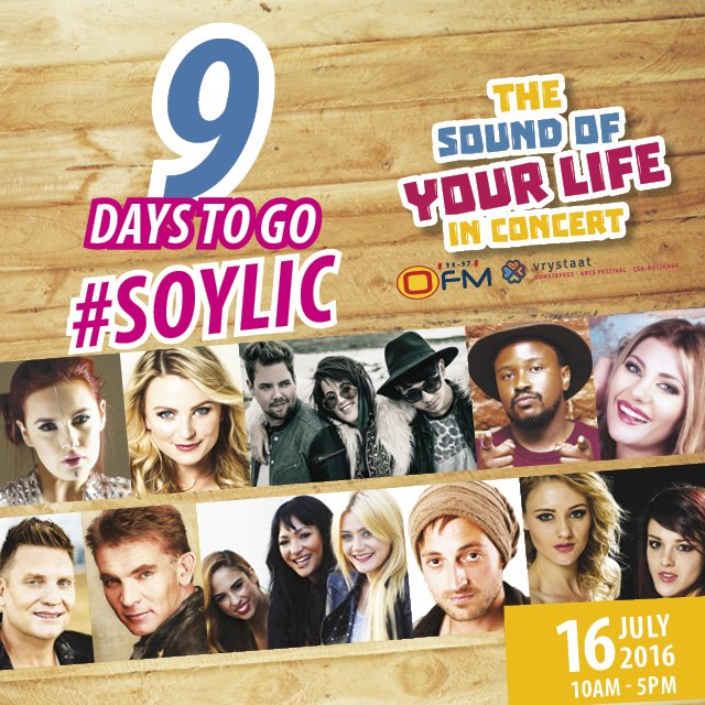 9 days to go till #SOYLIC, with #OFM & @VSKunstefees! #Win a R1000   deatils>https://t.co/jVWn3h79K7 https://t.co/rIpWbXVZIC