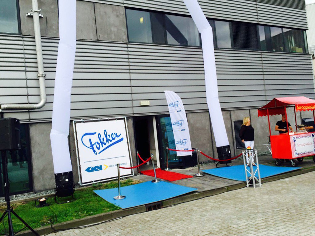 Opening verzorgen bij @Fokker vanochtend met @marcel_harte #partyregelaar