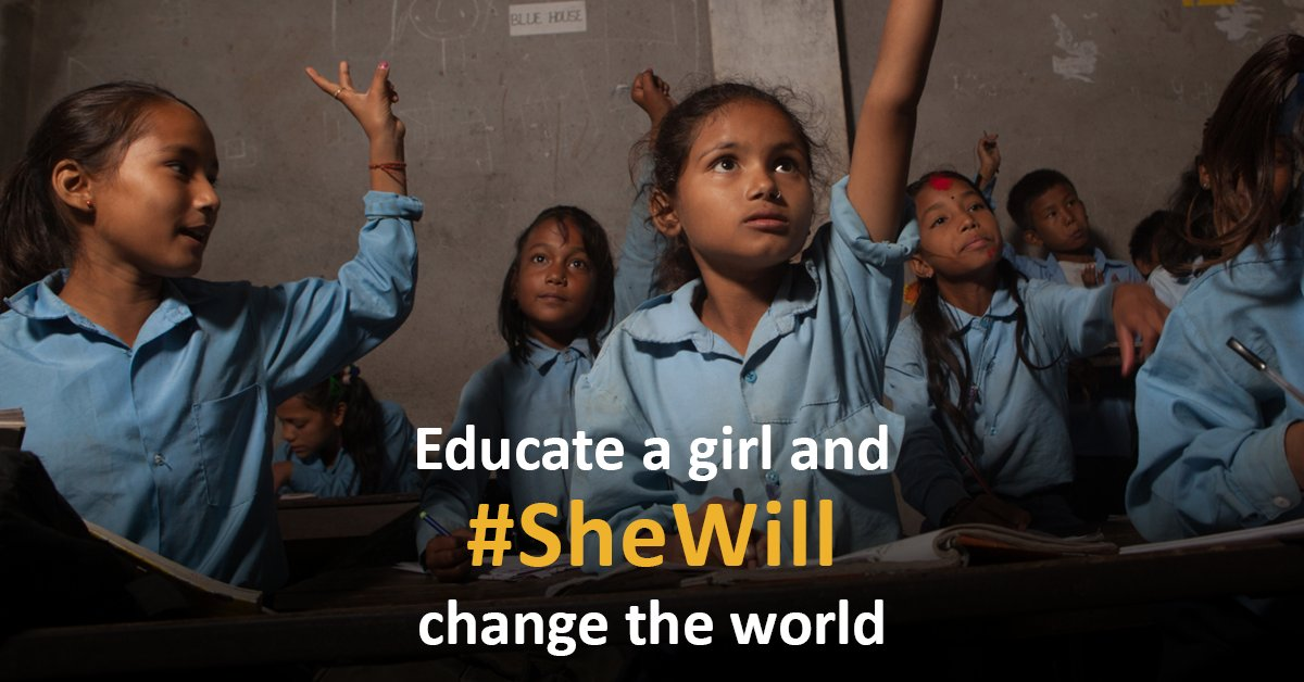 Join the fight for every girl's right to learn.  #SheWill https://t.co/dguGH9GmoD