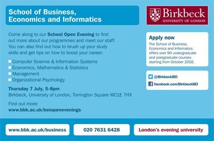 Birkbeck's Business School on Twitter:
