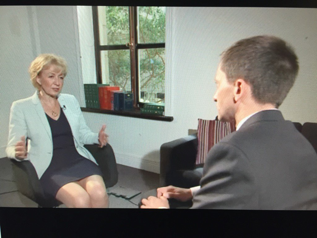 Andrea Leadsom tells me she would hold a vote to bring back fox hunting. https://t.co/Z016cn4Jny