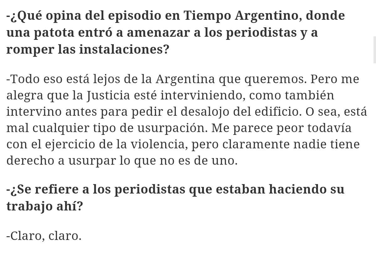 """Thumbnail for Para Macri los periodistas de Tiempo son """"usurpadores"""" y generó una lluvia de críticas"""