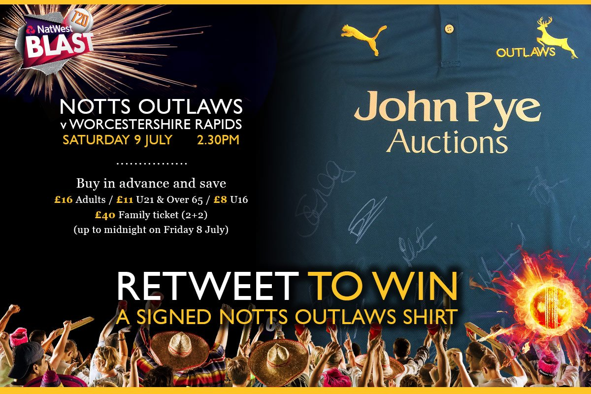 Fancy a signed Outlaws shirt? Retweet to win...  Outlaws v Rapids: https://t.co/4iQq2RNPWV #CricketHasLanded https://t.co/GE0FWr5GBu