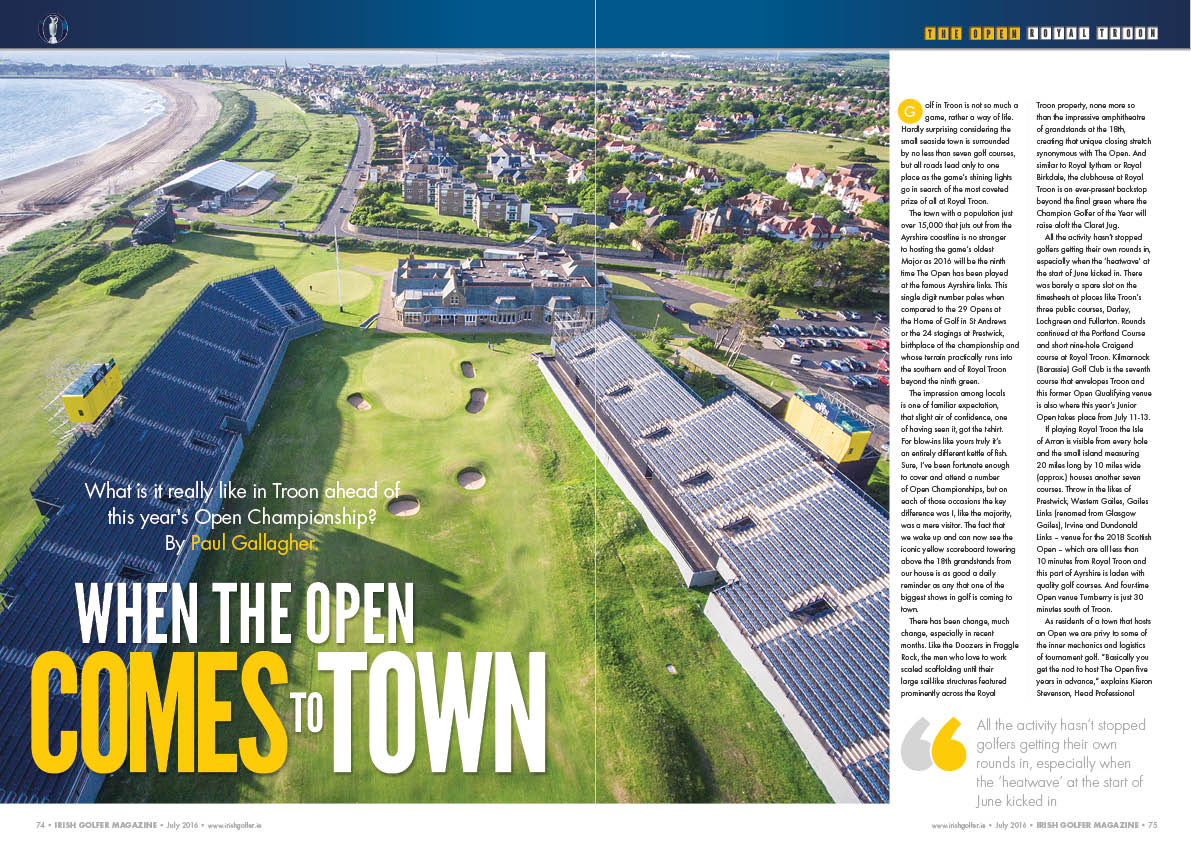 One of our previews in @IrishGolferMag ahead of @TheOpen @RoyalTroonGC​. Quality images courtesy @TaylorMadeGolf too