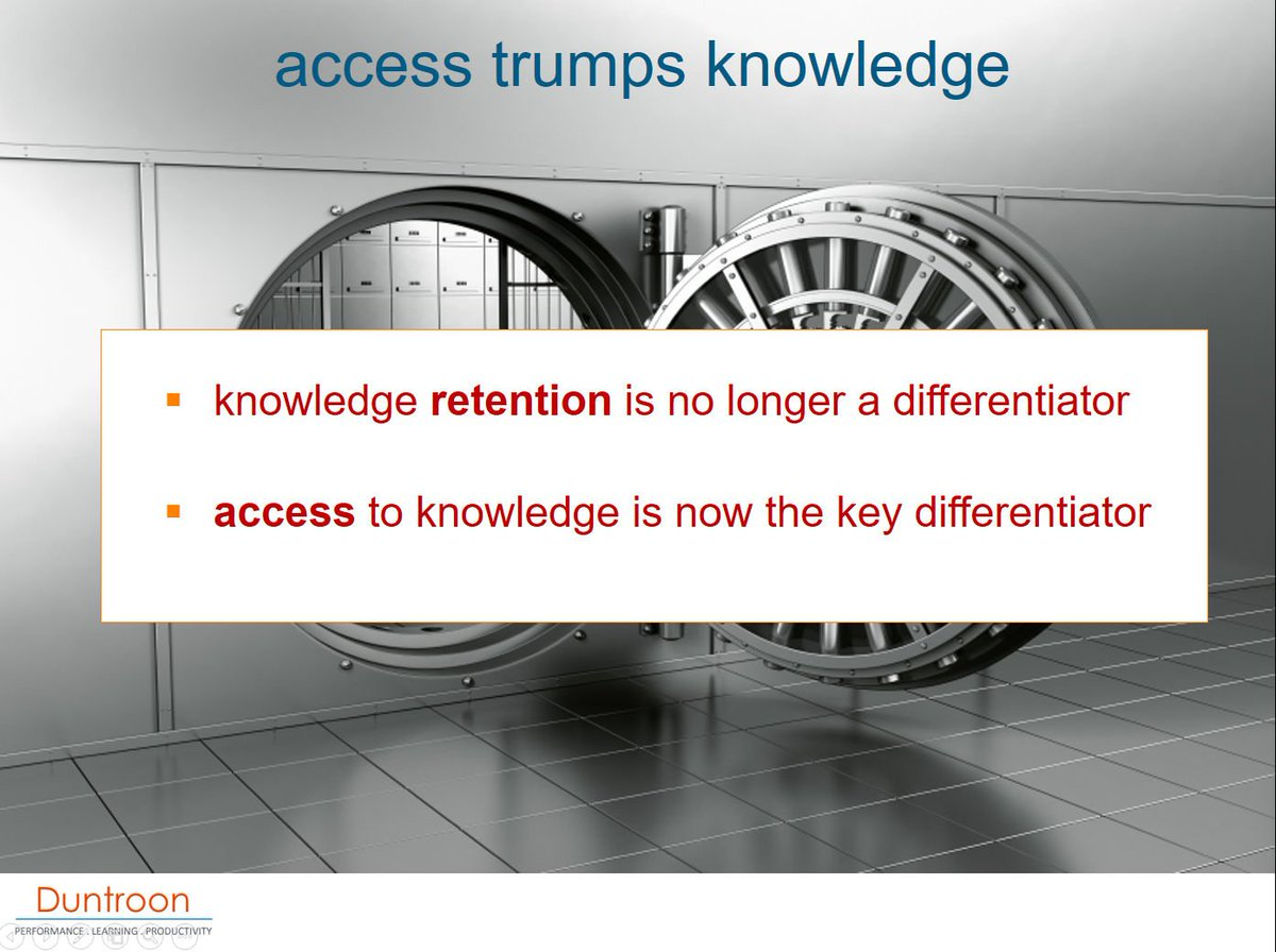 'Access trumps Knowledge' - meta-learning to empower 'find' rather than 'store' is critical in today's world. https://t.co/a1eqOVIv17