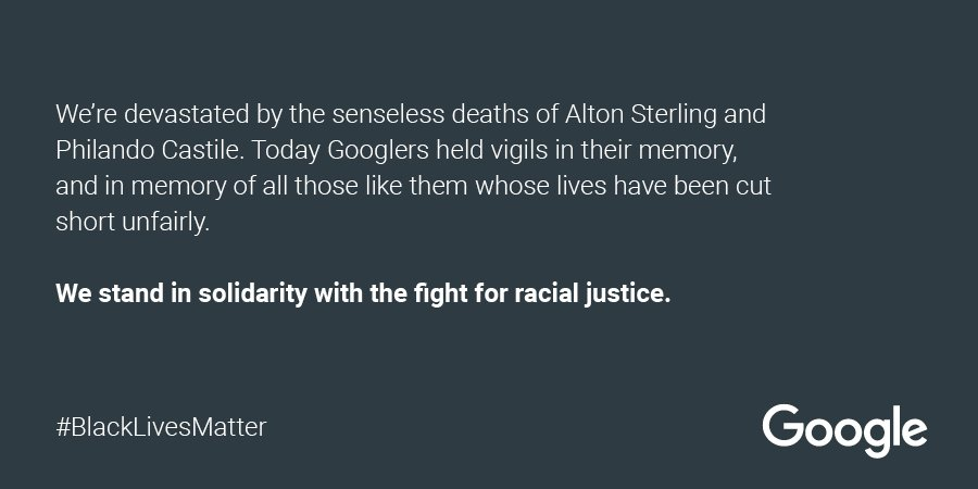 #AltonSterling and #PhilandoCastile's lives mattered. Black lives matter. We need racial justice now.