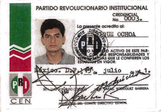 Soy un orgulloso militante del @PRI_Nacional desde 1991.