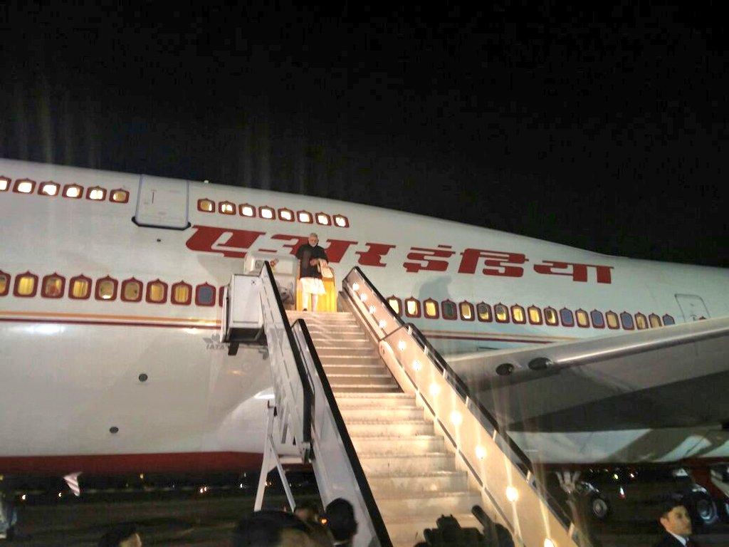 Prime Minister Narendra Modi arrives in South Africa