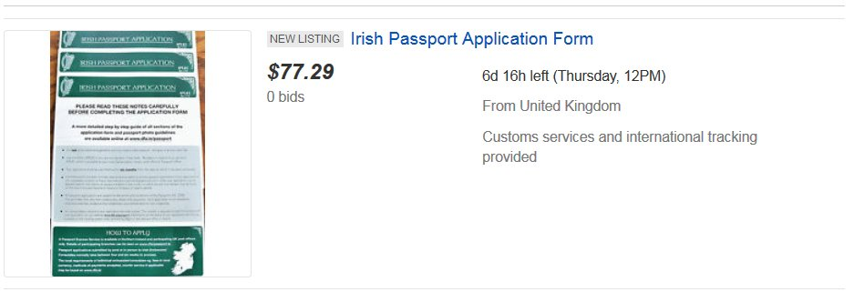 Naomi Oleary On Twitter Theres Irish Passport Application Form