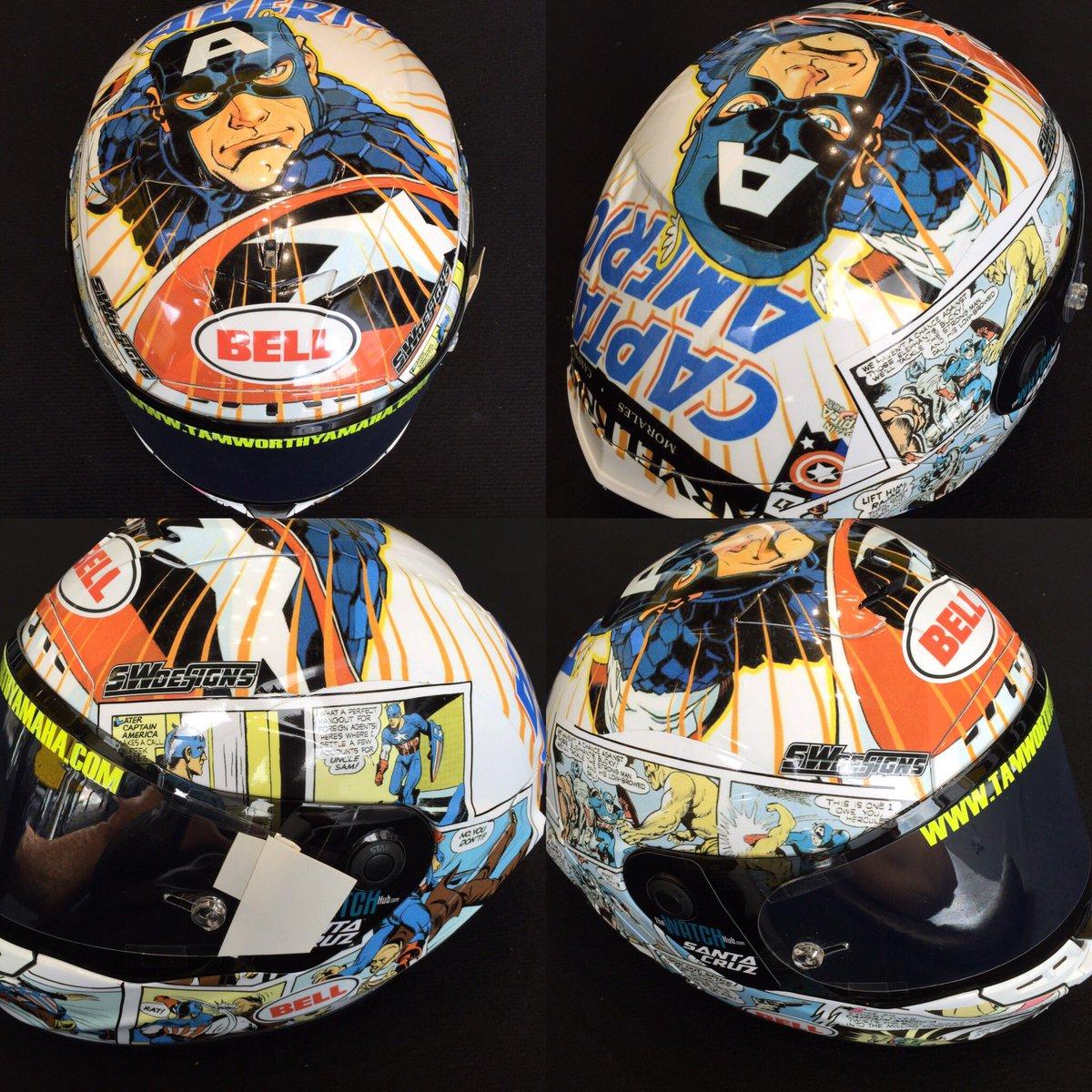 Captin America comic book.  @S_W_Designs killed this helmet. @BellPowersports https://t.co/tF6lKxH3ld