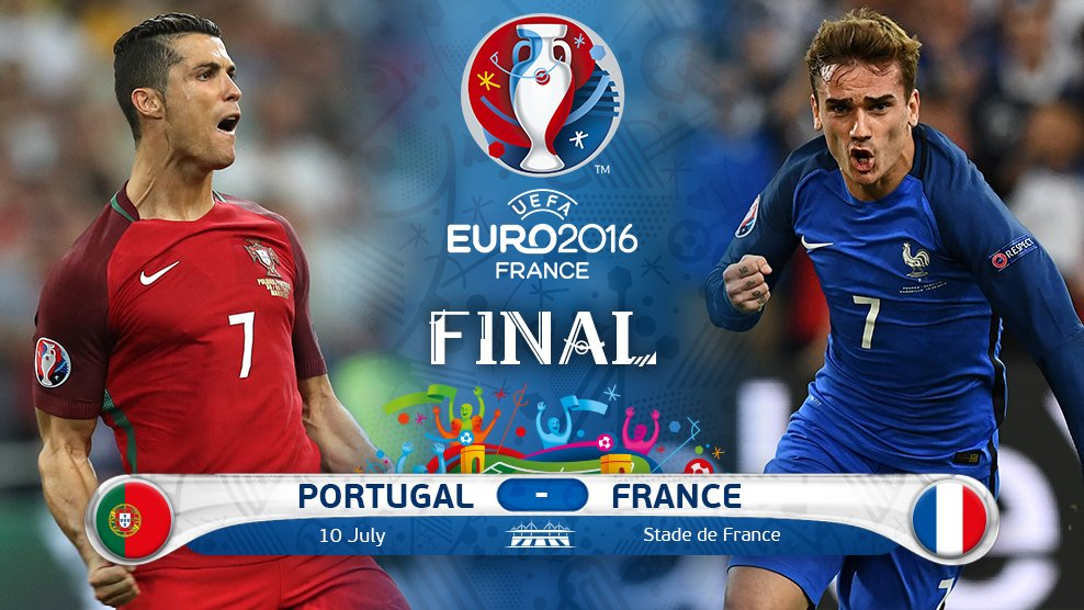 France beat Germany 2-0, to face Portugal in Euro final (https://pbs.twimg.com/media/Cmym0F3WIAA1i73.jpg:large)
