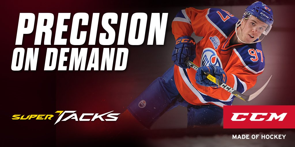 With a new dual flex profile, the Super Tacks stick may be the best CCM stick yet. Shop: https://t.co/e0lrwpaxpv