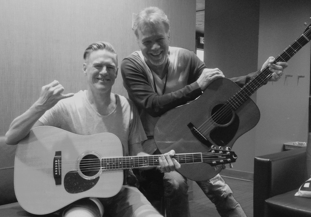 Eddie Van Halen On Twitter Hangin Out With My Friend Bryanadams Befor His Show At The Greek Theatre