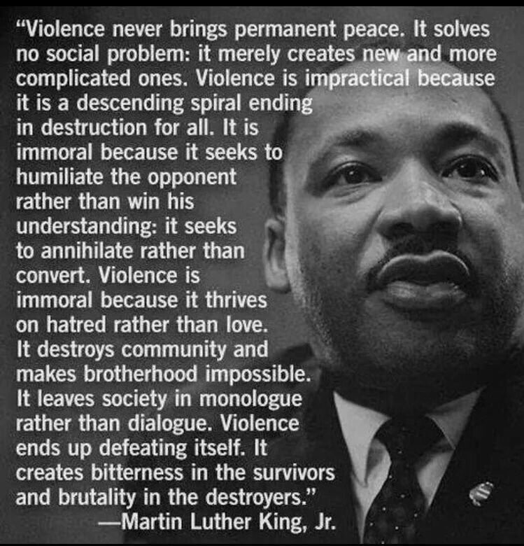 More than ever the words of #MLK #MartinLutherKing ring true. Somethings gotta give #EnoughIsEnough