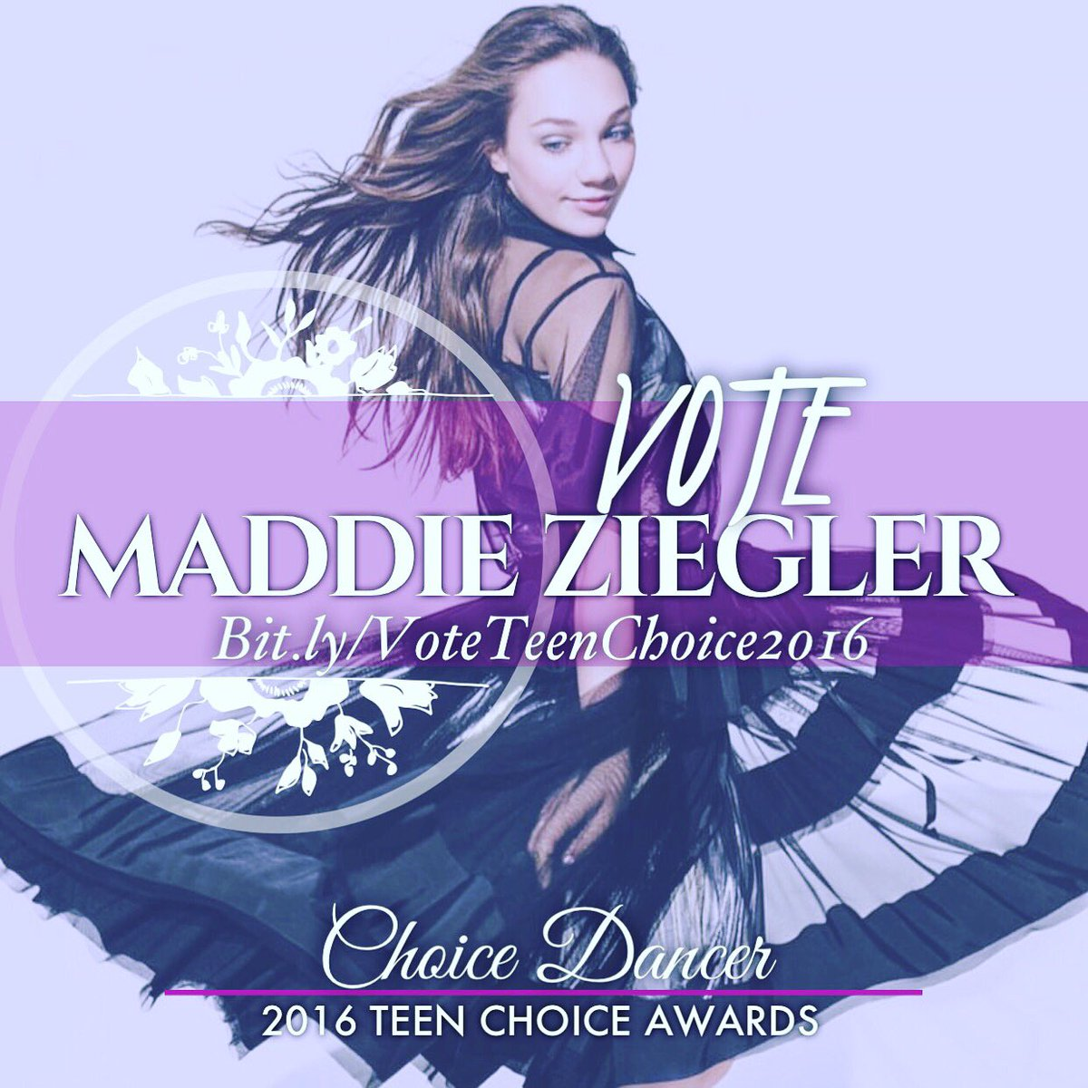 Thank you for nominating @MaddieZiegler for #ChoiceDancer @TeenChoiceFOX! Click the link in my bio to vote! https://t.co/StTnfyOW5g