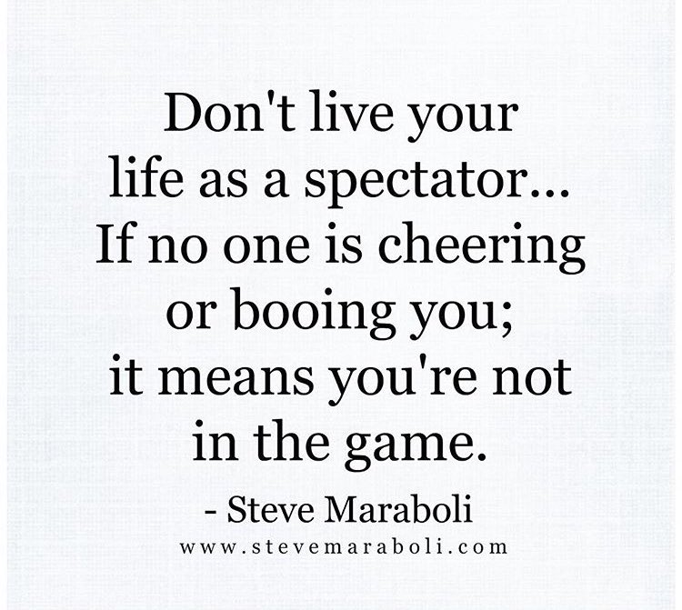 Love this quote by @SteveMaraboli! So true. Hopefully there's more people cheering you on in life than booing you. https://t.co/ta3LWyoxO9
