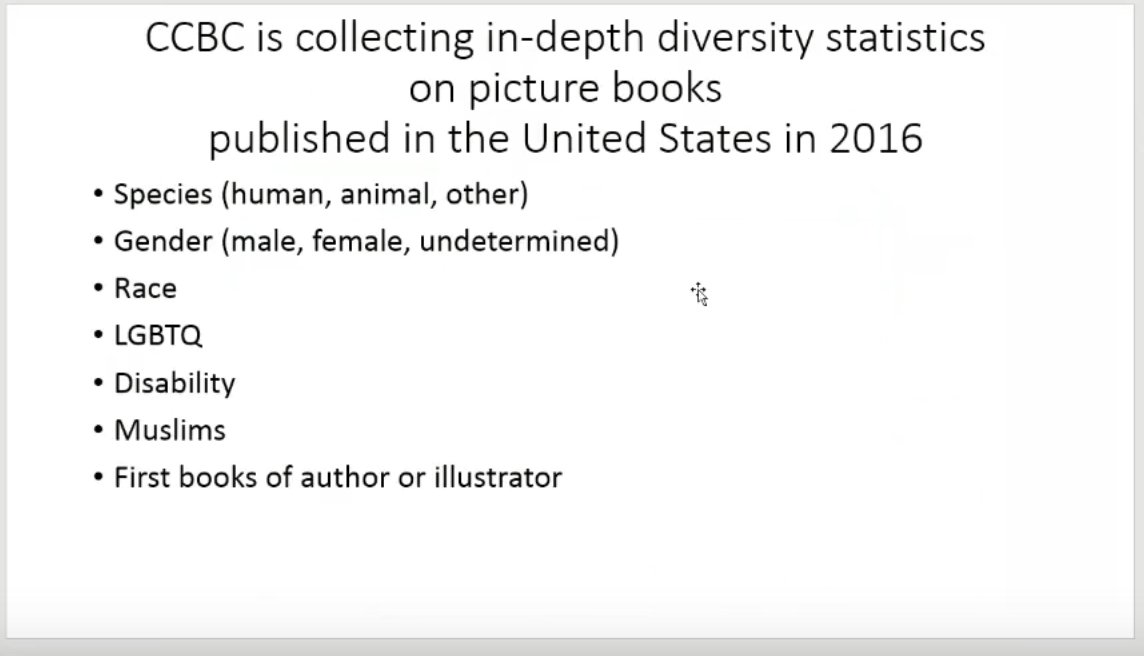CCBC's Pilot Project on Picture Books Published in the US in 2016 https://t.co/ACupfYECga