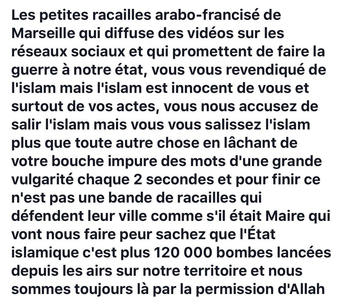 La video 'Marseille menace Daesh' a été vue par les FR de l'#EI en Syrie/Irak qui réagissent sur une de leurs pages