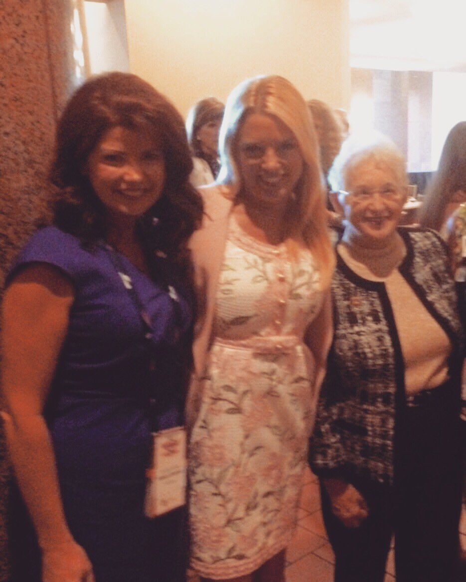 W/2 of my favorite women fireballs! LG @RebeccaforReal and Congresswoman @virginiafoxx #WomenForTrump #RNCinCLE