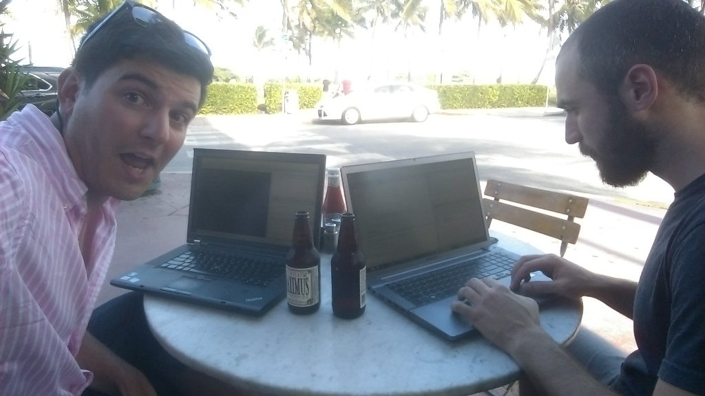 #hackingatthebeach #polarhack2016 @PolarComputing https://t.co/SaQrufa2hs