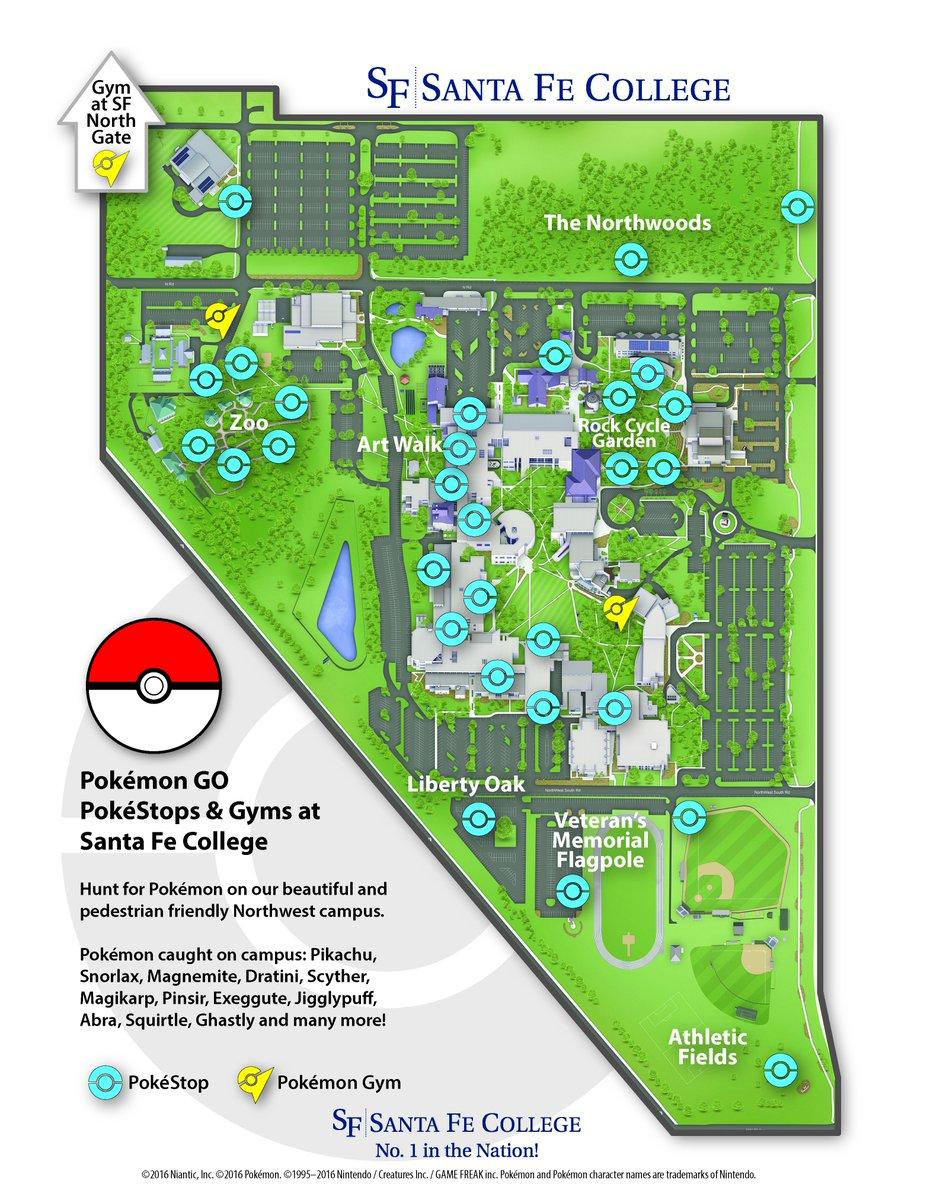 santa fe community college campus map Santa Fe College On Twitter Northwest Campus Is A Pokemon Go