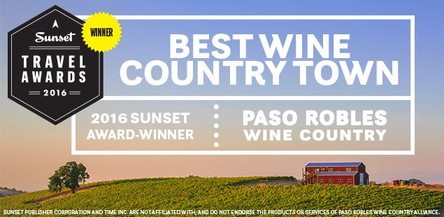 Paso Robles was announced today as Best Wine Country Town by @SunsetMag! #pasowine https://t.co/A8cL7iGqiy https://t.co/z3lrmzjtOd