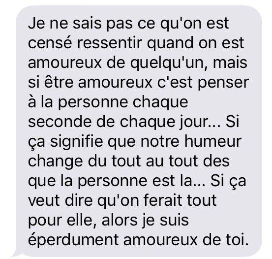 Cute Texts On Twitter Je Suis éperdument Amoureux De Toi