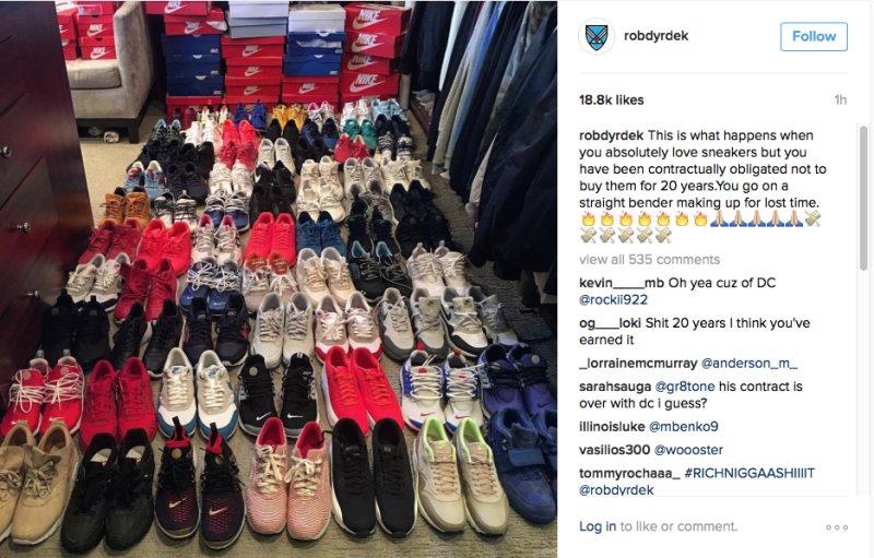 Rob Dyrdek is buying tons of Nikes