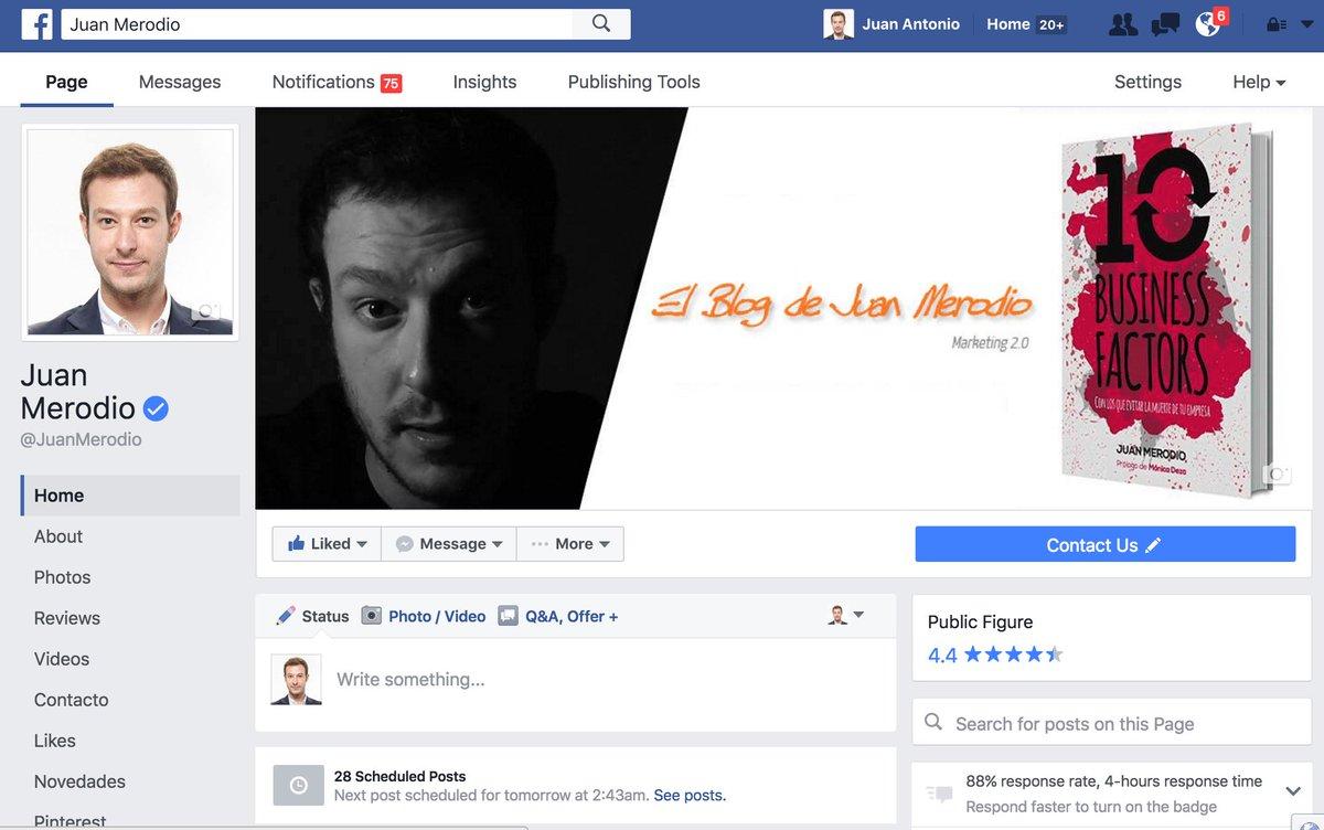 Acaban de activar en todo el mundo el nuevo formato de páginas de fans de #Facebook ¿os gusta la mejora? https://t.co/oe8dHy7d4Z
