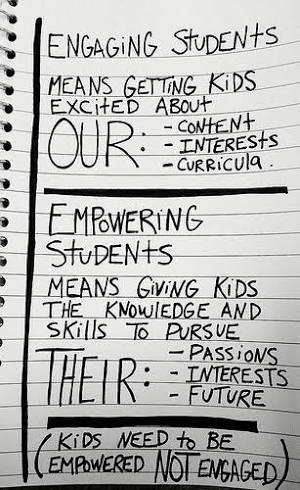 Focus on empowering students - help them build knowledge, skills to pursue their passions ... @danhaesler  #EdTechSA https://t.co/PKl6ojknWY