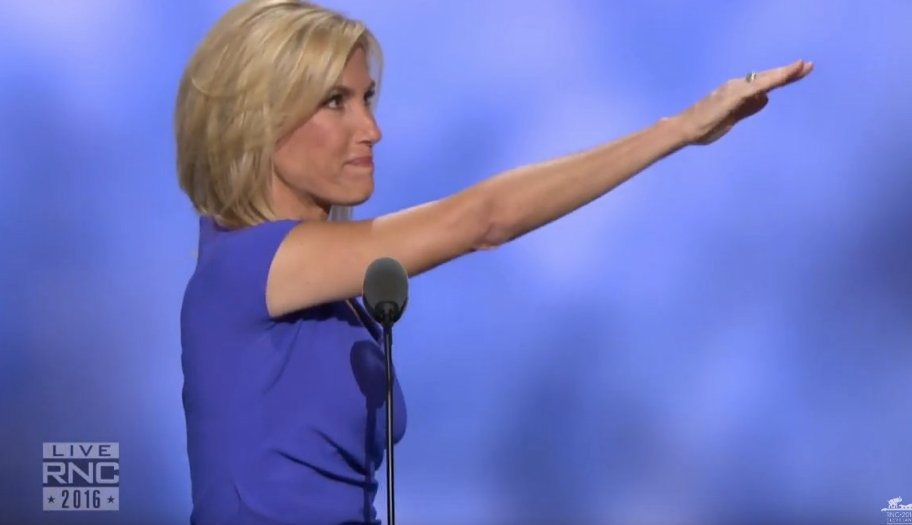 This is how Laura Ingraham closed her Republican Convention speech: https://t.co/4FRzn4QHTd #RNCinCLE