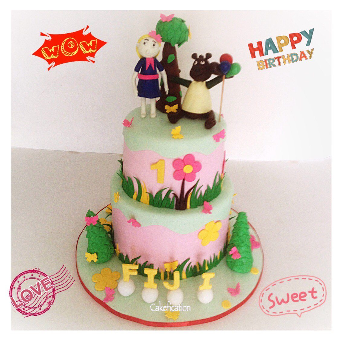 """Cakes & Gifts On Twitter: """"Goldie And Bear Themed Birthday"""