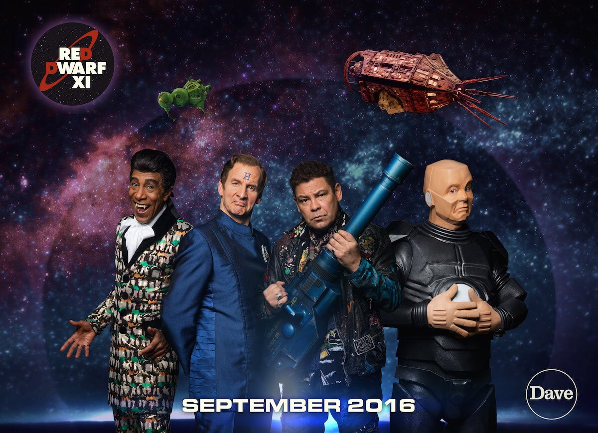 The smegheads are back. #RedDwarfXI, coming exclusively to Dave this September! https://t.co/G75SQb2zb4