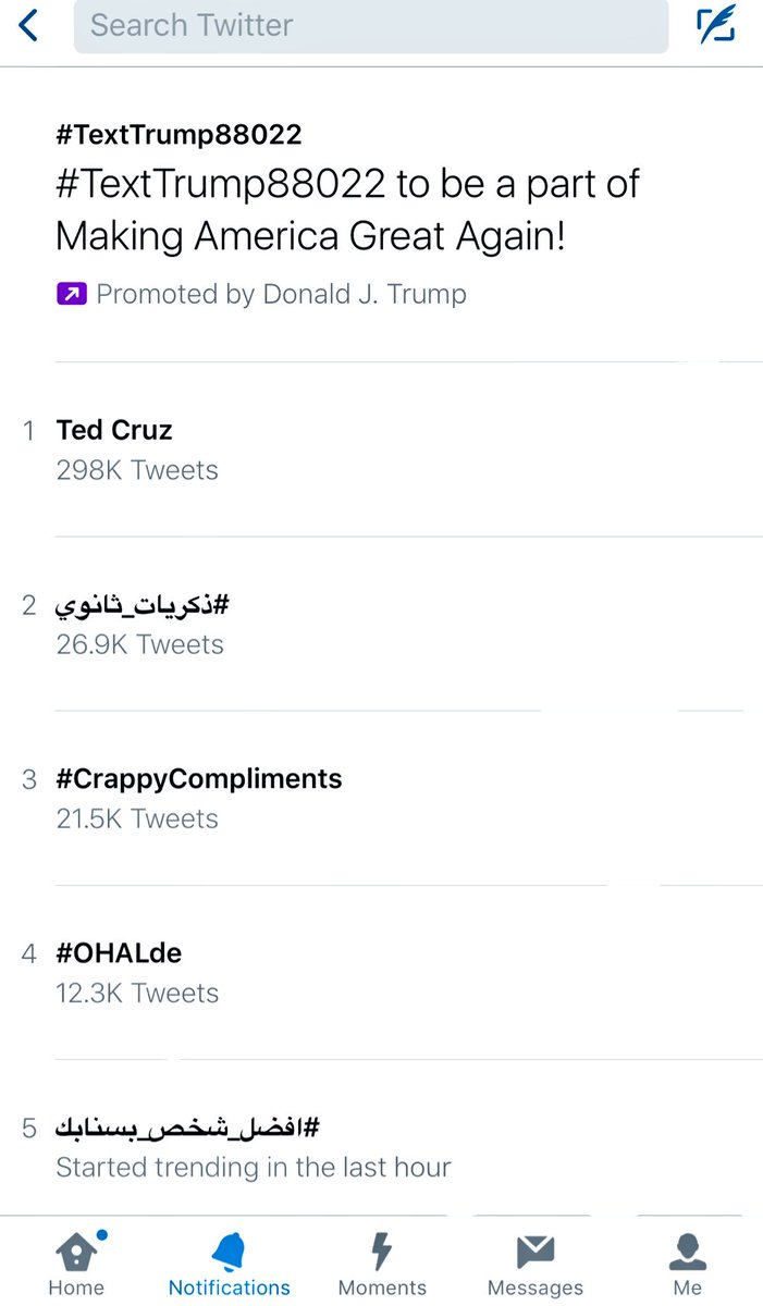 Don't think this is the reaction team Donald expected to their  #TextTrump88022 paid top trend
