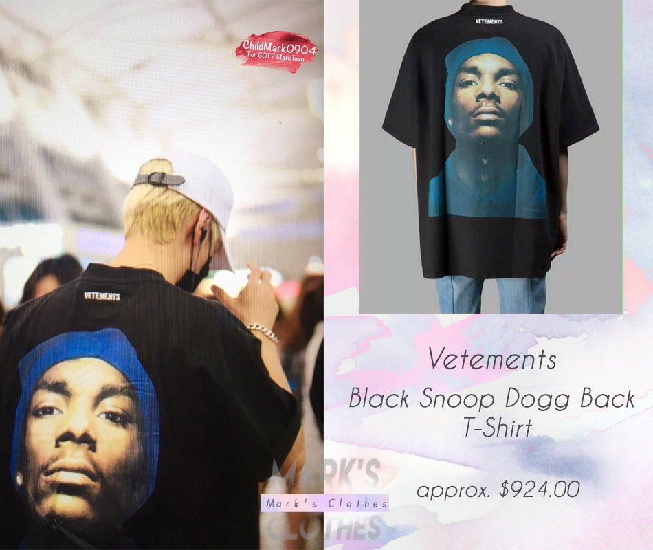 ae347fabea79a Vetements - Black Snoop Dogg Back T-Shirt approx. $924.00 #GOT7 #갓세븐 #Mark  #마크 #MarksClothespic.twitter.com/Vfq4FikZ9D
