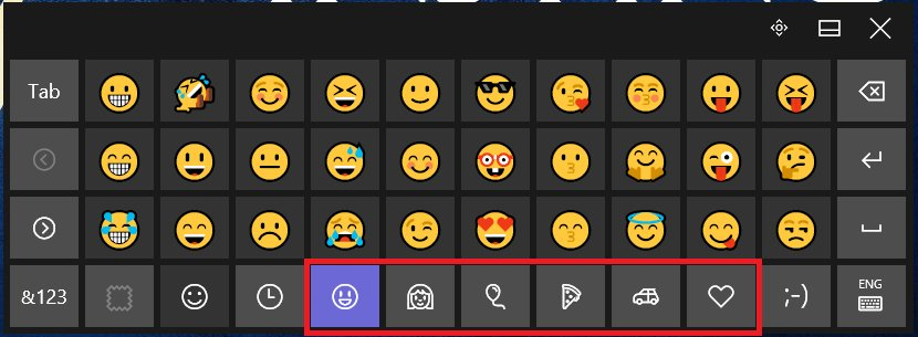 windows emojis