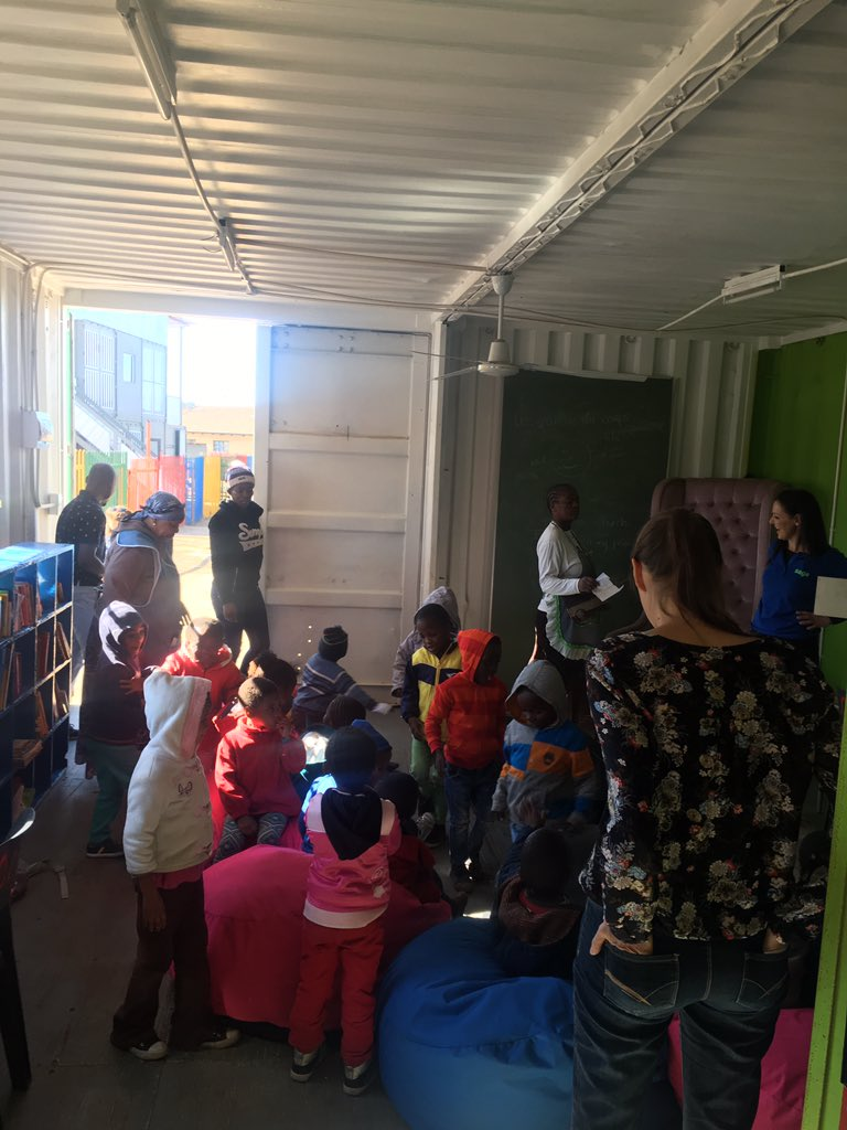Remember the Little Rose Library? One of our first projects. Story time with the kids #SageFoundation @SageGroupZA https://t.co/n9oMMwRjME