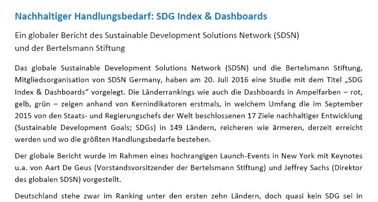 Great #SDGIndex by @UNSDSN & @BertelsmannSt, member of #SDSNGermany: https://t.co/p0bIDHC1zs https://t.co/y5hw1uhedW https://t.co/RbhxFdbc8z