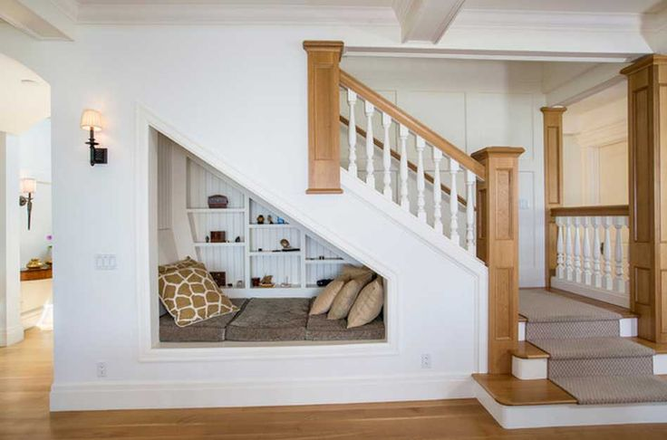Loft conversions on twitter seating under the stairs a stylish way to utilise that awkward - Amenager trap in ...