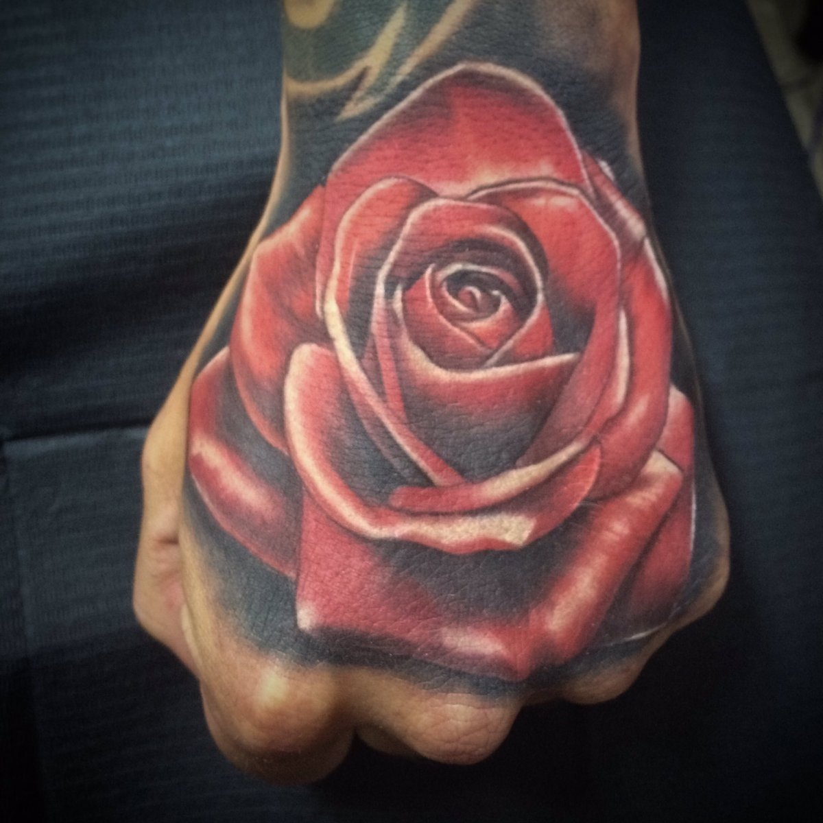 Inkversion On Twitter Fresh Red Rose Hand Tattoo Using