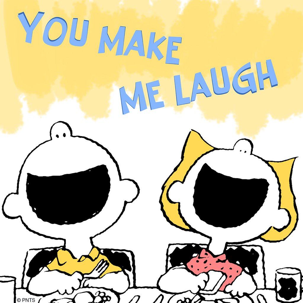 "PEANUTS On Twitter: ""You Make Me Laugh!…"