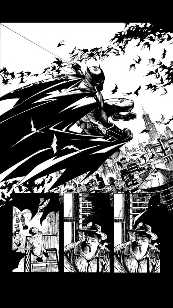 Batman: inks over @GregCapullo #tbt #batman #courtofowls #dccomics https://t.co/42WUYYs1gj
