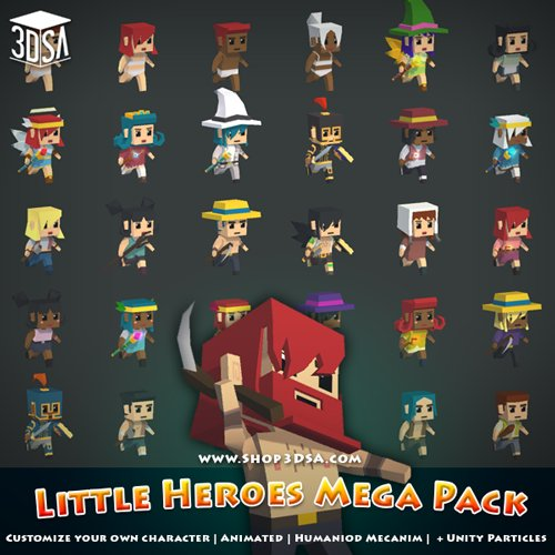 Little Heroes MEGA Pack Customize Your Character Now Unity Forum - Design your own character games